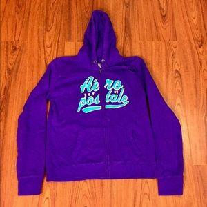 NWT Aeropostale Purple Zip Up Hoodie Sweatshirt XL